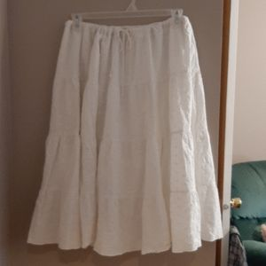 White embroidered peasant skirt